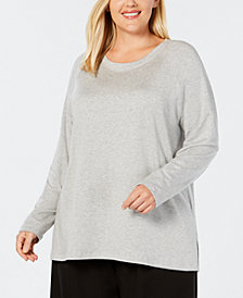 Eileen Fisher Plus Size Tencel® Side-Split Top