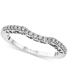Diamond Curved Band (1/5 ct. t.w) in 14k White Gold