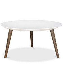 Josiah Round Lacquer Table, Quick Ship