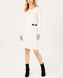 MICHAEL Michael Kors Buckle-Trim Sweater Dress