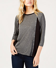 MICHAEL Michael Kors Embellished Colorblocked Top