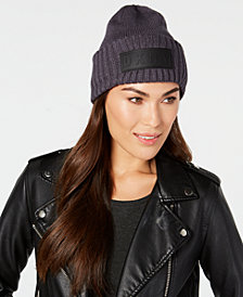 DKNY Puff-Patch Ribbed Beanie, Created for Macy's