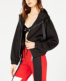 Waisted Hooded Track Jacket