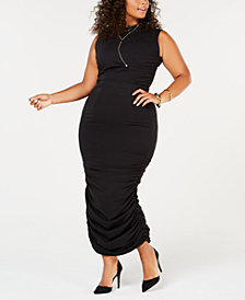 Rebdolls Plus Size Ruched Midi Dress from The Workshop at Macy's