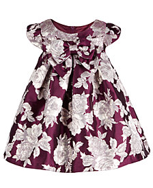 Bonnie Baby Baby Girls Jacquard Trapeze Dress
