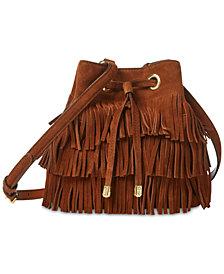 Lauren Ralph Lauren Dryden Mini Debby Fringe Drawstring Bag
