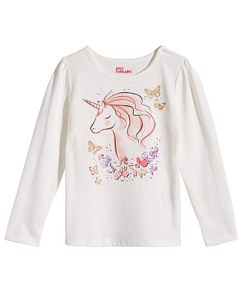 922c06af Epic Threads Little Girls Unicorn Shirt, Created for Macy's & Reviews ...
