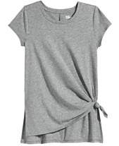 b0203c49b Epic Threads Big Girls Side-Tie Solid T-Shirt