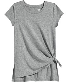 Epic Threads Big Girls Side-Tie Solid T-Shirt, Created for Macy's