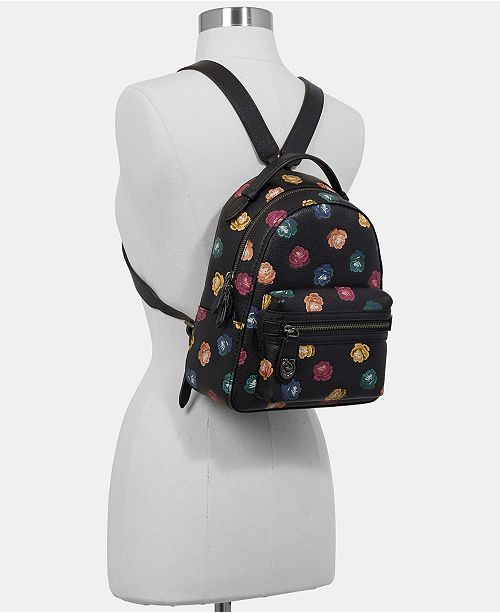 1bde8b8bbcfe3 ... italy coach rainbow rose campus backpack in pebble leather handbags  accessories macys aa7e0 d7d44