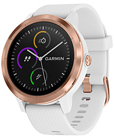 Garmin Unisex vívoactive® 3 White Silicone Strap Touchscreen Smart Watch 43.4mm
