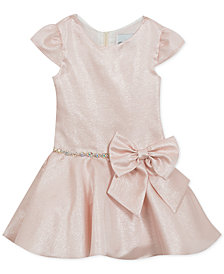 Rare Editions Toddler Girls Metallic Drop Waist Dress