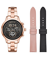 294a4d9b3ef1c Michael Kors Access Unisex Runway Rose Gold-Tone Stainless Steel Bracelet  Touchscreen Smart Watch 41mm