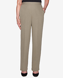 Alfred Dunner Petite Autumn in New York Relaxed-Fit Pants