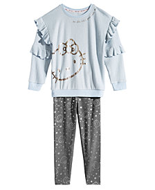 Hello Kitty Little Girls 2-Pc. Hacci Top & Leggings Set