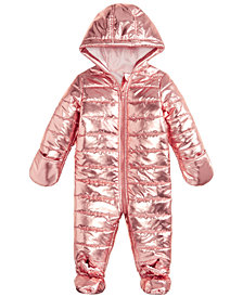 First Impressions Baby Girls Metallic Puffer Snowsuit, Created for Macy's