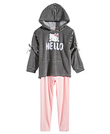 Hello Kitty Little Girls 2-Pc. Velour Hoodie & Leggings Set