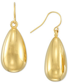 Signature Gold™ Teardrop Drop Earrings in 14k Gold over Resin Core