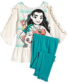 Disney Little Girls 2-Pc. Moana Tunic & Leggings Set