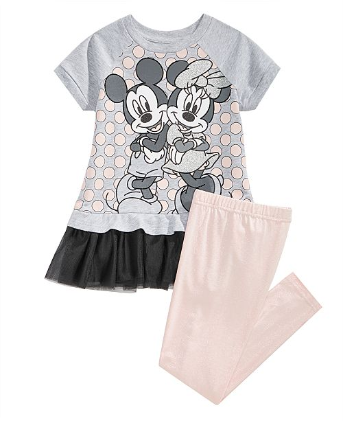 d744770a42238 Disney Toddler Girls Mickey & Minnie Tunic & Leggings Set & Reviews ...