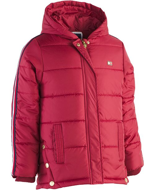 ac00c671 Tommy Hilfiger Big Girls Hooded Puffer Jacket & Reviews - Coats ...