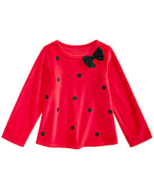 First Impressions Toddler Girls Dot-Print Velour Tunic, Created for Macy's