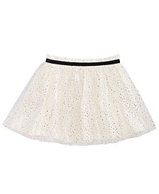 First Impressions Toddler Girls Velvet-Trim Glitter Tulle Skirt, Created for Macy's