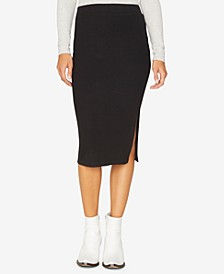 Essentials Ribbed Pencil Skirt