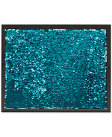 Intelligent Design Aqua Mermaid Reversible Sequined Message Board with Frame