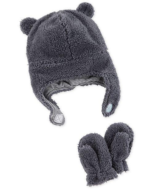 Carter s Baby Boys or Girls Fleece Hat   Mitten Set - All Kids ... 57899d14411