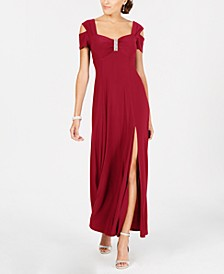 Cold-Shoulder Gown