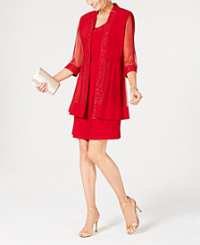 R & M Richards Embellished Dress & 3/4-Sleeve Jacket