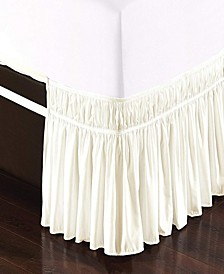 Wrap Around Bed Skirt, Elastic Dust Ruffle Easy Fit, Wrinkle and Fade Resistant