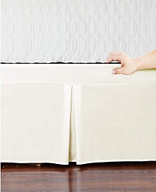Microfiber Tailored Bed-Skirt  Abrasion Resistant, Quadruple Pleated  - Twin