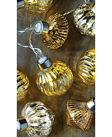 Studio Mercantile LED Novelty Mercury Glass Ornaments 10ft String Lights