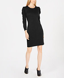 Calvin Klein Puff-Sleeve Sweater Dress