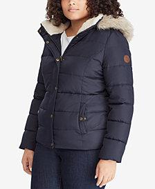 Lauren Ralph Lauren Plus Size Faux-Fur Puffer Coat