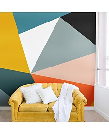 Deny Designs The Old Art Studio Modern Geometric No.33 8'x8' Wall Mural