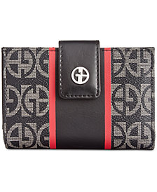 Giani Bernini Block Signature Stripe Frame Wallet, Created for Macy's