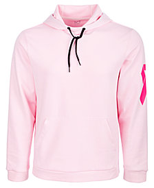 ID Ideology Men's Breast Cancer Awareness Pink Graphic Hoodie, Created for Macy's