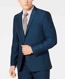 Bar III Men's Slim-Fit Stretch Teal Suit Jacket, Created for Macy's