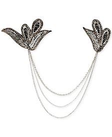 Deepa Silver-Tone Bead Drape Hair Clip