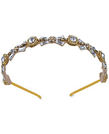 Deepa Gold-Tone Crystal & Bead Headband