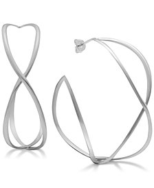 Essentials Twisted Wire Hoop Earrings in Fine Silver-Plate