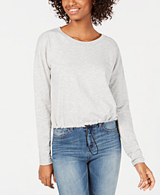 Almost Famous Juniors' Bungee-Hem Sweatshirt