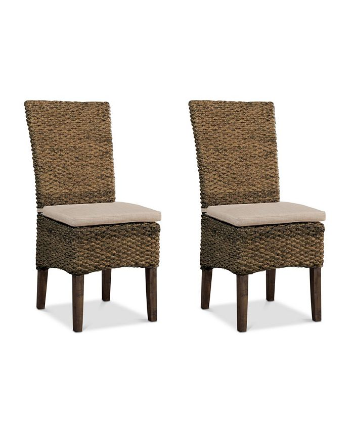 Furniture - Calypso Dining Chair 2-Pc. Set (2 Woven Side Chairs)