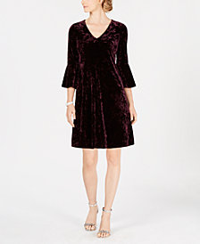 Jessica Howard Petite Velvet A-Line Dress