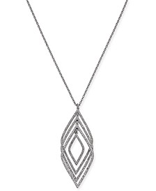 "INC Silver-Tone Pavé Multi-Layer Pendant Necklace, 30"" + 3"" extender, Created for Macy's"