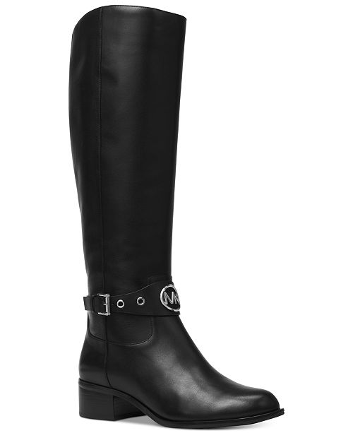 af081444ed59b Michael Kors Heather Wide Calf Riding Boots   Reviews - Boots ...