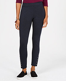 Style & Co Snap-Hem Ponté-Knit Leggings, Created for Macy's